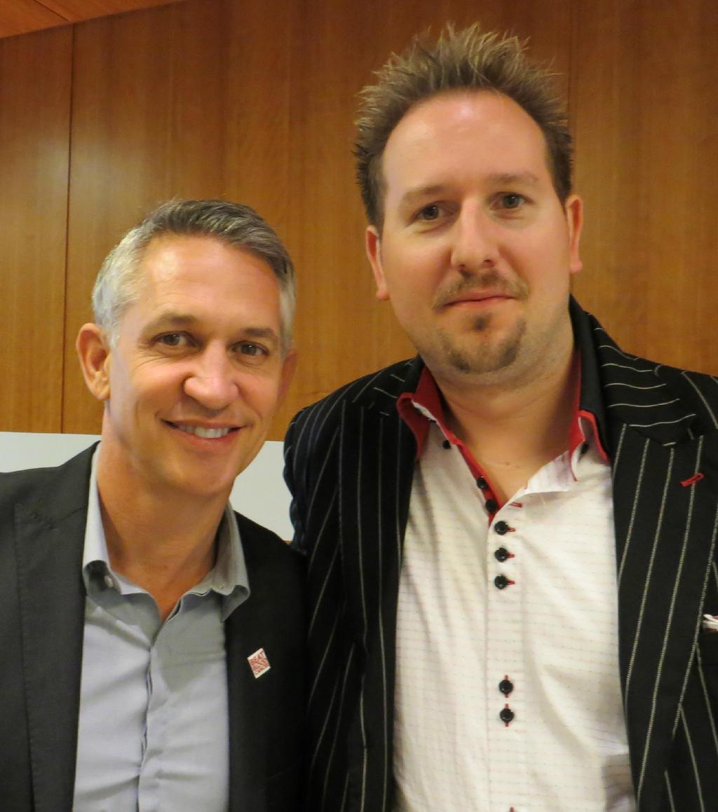 Robert Fox and Gary Lineker